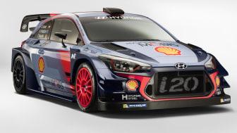 Dette er  den nye i20 WRC fra Hyundai. Bedre kjøreegenskaper og mere hestekrefter!