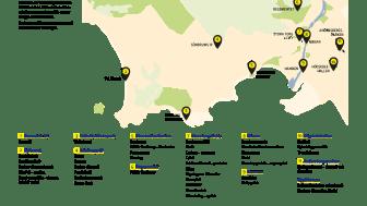 SM-veckan i Halmstads tävlingsområden och idrotter (med reservation för ändringar).