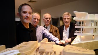 Ian Wilson and Colin Peebles, FaulknerBrowns, Johan Coetsee and Dave Greenwood from Newcastle Business School