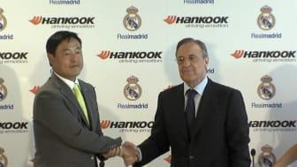 Hankook Tire Worldwide President och CEO Hyun Shick Cho samt Real Madrid C.F. President Florentino Pérez