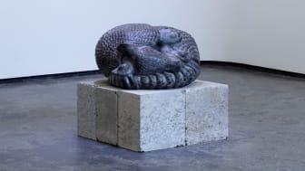"""""""Sovende beltedyr"""" laget i 1999 av kunstner Elena Engelsen er kjøpt inn, og vil plasseres ut snart i en barnehage. Foto: Trond Isaksen"""