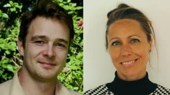 Til venstre ses Kristian Lybæk, til højre ses Gry Errboe. Foto: Privat