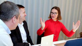 2019 har varit ett tillväxtår, menar LRF Medias VD Ann Henriksson. Samtidigt levererar mediehuset ett resultat på drygt 17 miljoner kronor före skatt. Foto: Karina Ljungdahl