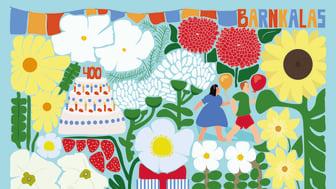 Ett av årets festliga kompositioner i årets blomsterprogram är barnkalas.