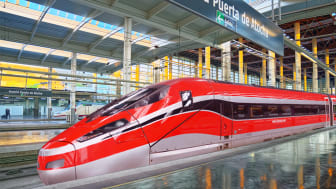 Rendering of Frecciarossa in Madrid station