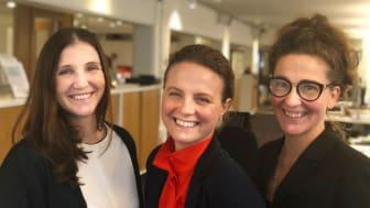 Anna Åkerfeldt, forskare, Hanna Elving leder den nationella testbädden för edtech för Nacka kommun och Jannie Jeppesen, branschorganisationen för edtech