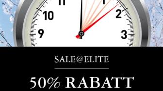 Sale@Elite – 50% rabatt under en dag