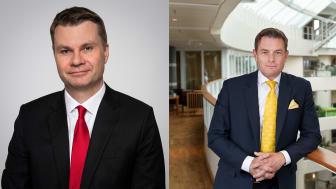 Ulf Olsson, vice ordförande i Sobonas föreningsstyrelse och Joakim Larsson, ordförande i Sobonas föreningsstyrelse. Foto: SKR
