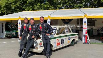Fra venstre: Martin Berner, Oscar Davidsen Siesbye og H.K.H. Prins Joachim. Foto: Bertel Bang.