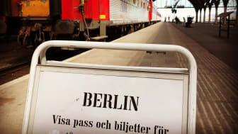 Snälltåget Berlinskylt