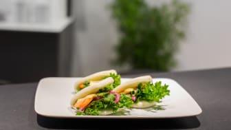 Bao Buns är en del av menyn som erbjuds på Sushi Yama Dim Sum.