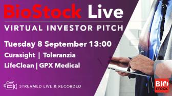 BioStock LIVE - VIRTUAL INVESTOR PITCH