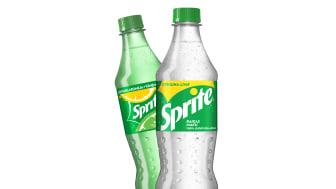Sprite-pullot muuttuvat kirkkaiksi, koska värillinen PET-muovi ei kierrä uusiin pulloihin. Ympäristön kannalta on parasta, jos pullot saadaan kierrätettyä uusiksi pulloiksi.