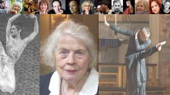 En mångfald av artister, dansare och musiker medverkar i föreställningen.  Från vänster i bild Tobias Ulfvebrand, Sigrid Kahle & Virpi Pahkinen