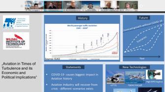 ExpertInnen aus verschiedenen Luftfahrtbereichen diskutierten am 19. November 2020 in einer vom Wildau Institute of Technology organisierten Online-Podiumsdiskussion zu aktuellen Entwicklungen und Perspektiven der Luftfahrt im Krisenjahr 2020