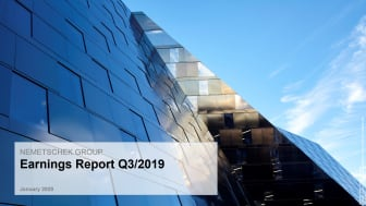 Nemetschek Group closes third quarter of 2019 with record earnings and undiminished high rate of growth
