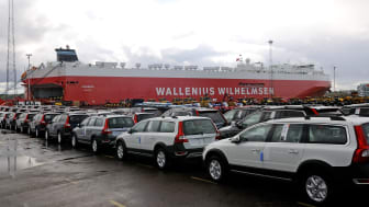 Rise in car exports though the Port of Gothenburg