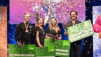 Samtliga vinnare i Venture Cup Nords Regionfinal. Foto: Hampus Carlson