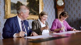 Ole Petter Ottersen, rektor Karolinska Institutet, Astrid Söderbergh Widding, rektor Stockholms universitet och Sigbritt Karlsson, rektor KTH.