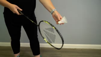 Charlotte, busy mum of two, enjoys playing badminton