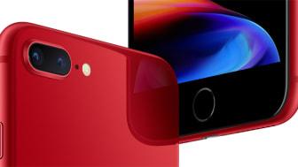 iPhone 8 RED och 8+ RED finns nu hos Tre!
