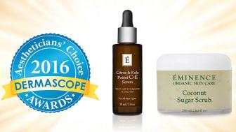 Dubbelvinst för Éminence på Dermascope Aesthetician´s Choice Awards 2016