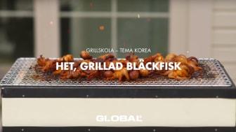 Global grillskola - Het, grillad bläckfisk