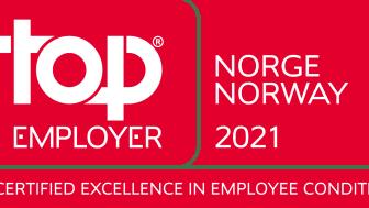 TCS mottar «Top Employer» sertifisering i Norge for syvende år på rad