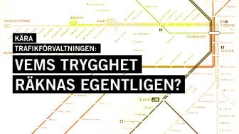 Stockholms tunnelbanenät. Iluustration: Tova Jerfelt/Amnesty International