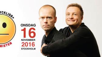 Humorföreställningen DEN LYCKLIGA PESSIMISTEN kommer till Stockholm.