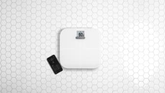 Slimmad och smart våg med en ny graf för vikttrend och anpassningsbara widgets.