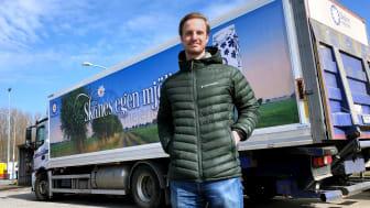 """""""Det känns ärofyllt att få vara med, att få spela en liten roll i något som är så stort"""", säger William Smygegård som lånas ut från Skånemejerier."""