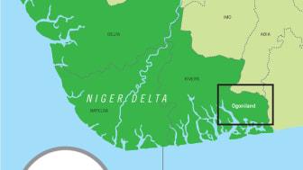 Nigeria - bara en tiondel av områdena i Nigerdeltat är oljesanerade