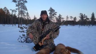 Utmanande lockjakt på räv