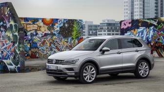 En lang række af Volkswagens biler reduceres med 10.710 kr. Her den nye Tiguan