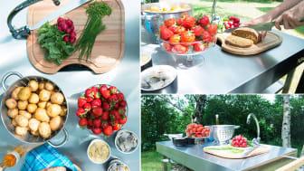Ät midsommarmaten utomhus - oavsett väder