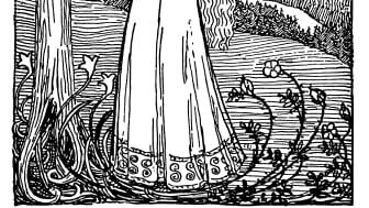 Makt og magi. Erik Werenskiold, Dronning Ragnhilds drøm, 1899