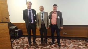 Plåt & Ventföretagen har i dag medverkat i GCP Europes årliga kongress som genomfördes i Berlin. Från vänster: Johan Lindström, vd och förbundsdirektör i Plåt & Ventföretagen, Karl-Walter Schuster från BTGA samt Sören Schmidt från danska Tekniq.