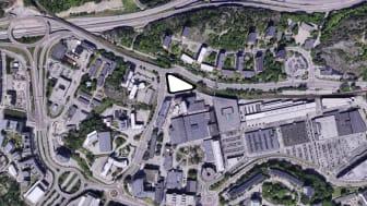 Flygfoto Sickla Station