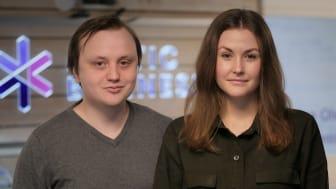 Jonathan Henriksson och Rebecka Österberg