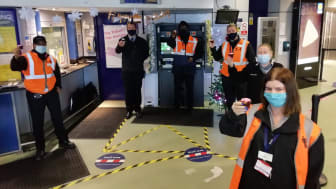 Staff at Luton Airport Parkway celebrate station's 21st birthday