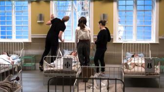 Från en dramaproduktionsövning i tv-studion på StDH. Foto: Bengt Söderström