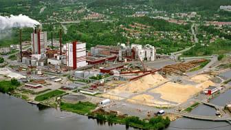 Östrands massafabrik i Timrå som ingår i SCA-koncernen. Foto: SCA