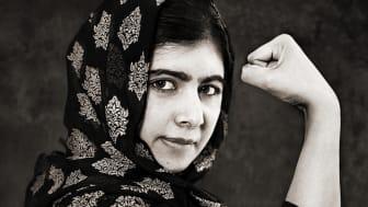 Malala Yousafzai, en av personerna som porträtteras på fotoutställningen We Have A Dream på Jönköpings läns museum. Fotograf: Albert Wiking