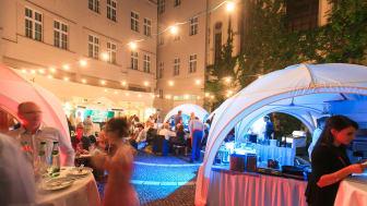 Kochzelte der Gourmetköche im Hofgarten © Hotel Fürstenhof, Leipzig, Fotograf: Swen Reichhold