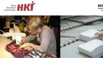 Unge med psykiske udfordringer syr designerpuder og -tæpper af kasserede tekstiler