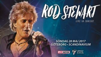 Rod Stewart till Scandinavium den 28 maj