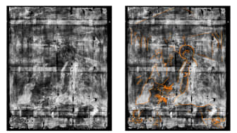 Bowes Museum panel Xray comparison between marked and unmarked version (photo credit Northumbria University and The Bowes Museum)