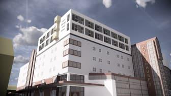 De nye rommene vil reise seg på toppen av Clarion Collection Hotel Arcticus i Harstad.