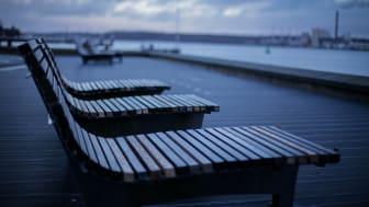 Vorerst bleiben die Bänke in Kiel.Sailing.City leer
